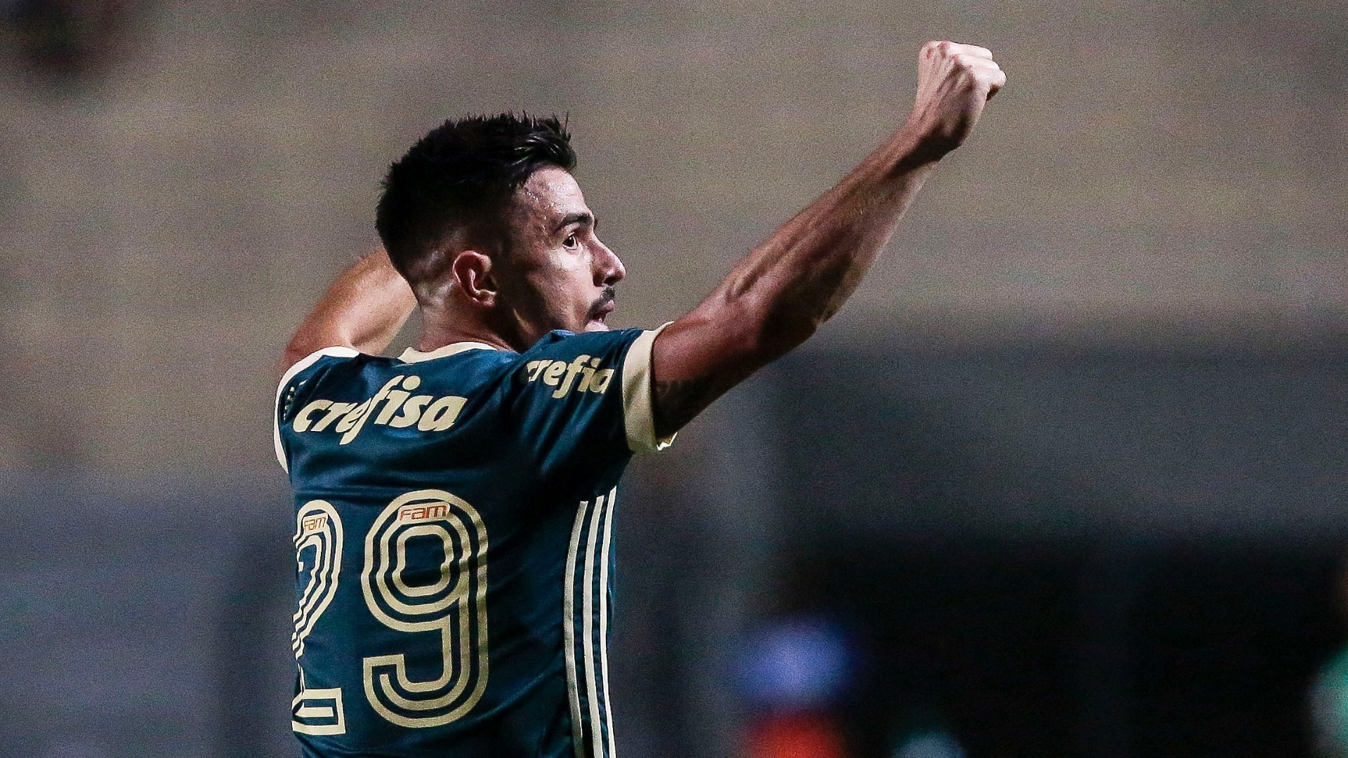 Gol de Willian abriu o placar para o Palmeiras contra o Bahia