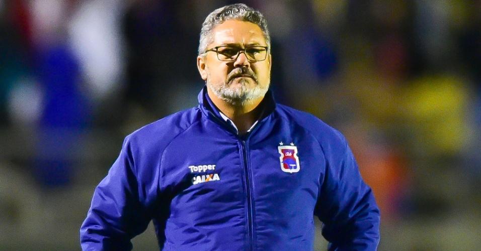Rogério Micale, técnico do Paraná, na partida contra o Fluminense