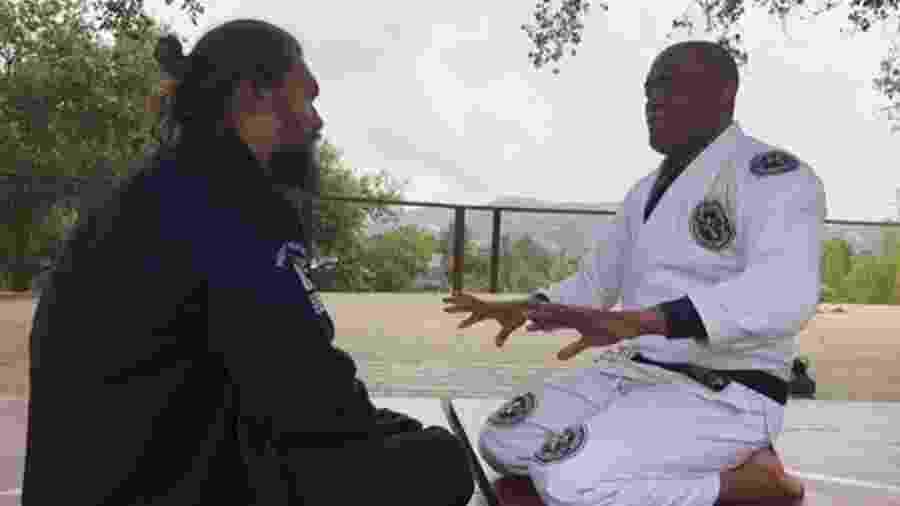 Jason Momoa foi treinado no jiu-jitsu por Anderson Silva - reprodução/Instagram