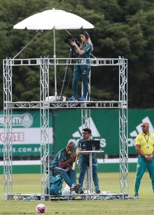TV Palmeiras já montou estrutura para transmitir jogo-treino
