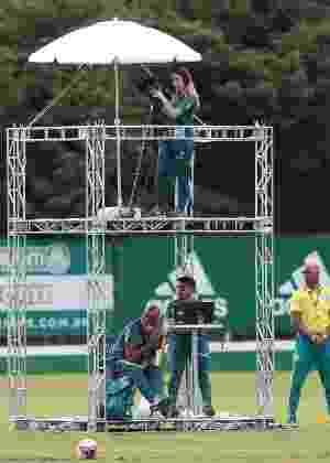 TV Palmeiras já montou estrutura para transmitir jogo-treino - Cesar Greco/Ag. Palmeiras/Divulgação