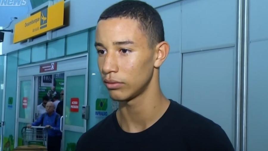 Kayque, jogador do Flamengo que sobeviveu à incêndio - Reprodução/SporTV
