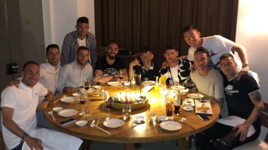 Jogadores do Valladolid curtem Ibiza após permanência na 1ª divisão - Reprodução/Instagram