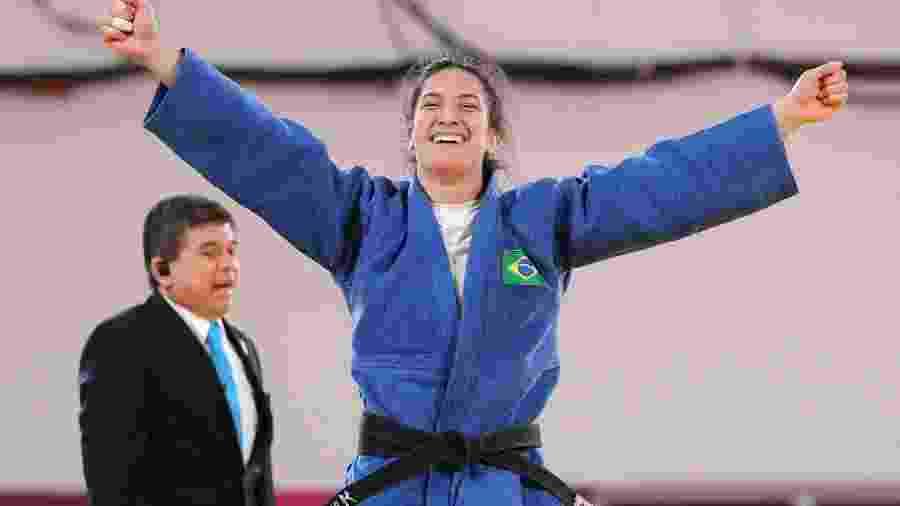 Mayra Aguiar comemora ouro nos Jogos Pan-Americanos de Lima - SERGIO MORAES/REUTERS