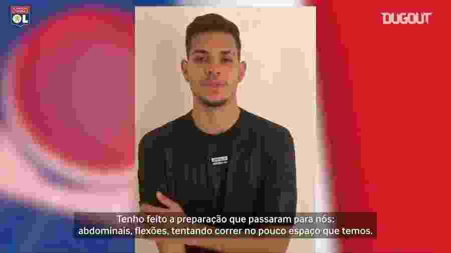 O jogador do Olympique, Bruno Guimarães - Reprodução