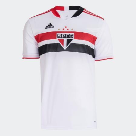 Nova camisa titular do São Paulo para a temporada 2021 - Divulgação/Adidas