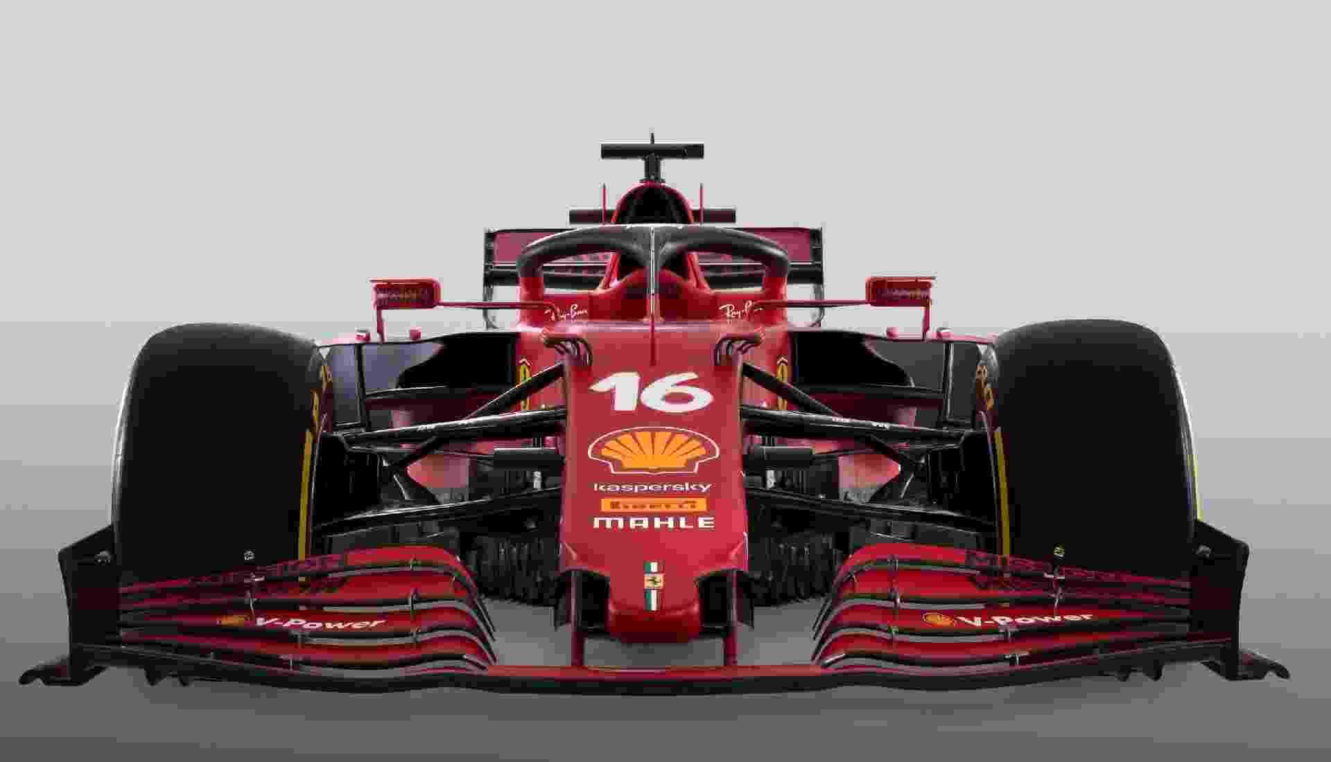 O carro da Ferrari para a temporada 2021 da F1 foi batizado de SF21 - Ferrari/Divulgação
