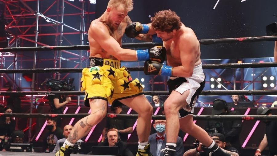 Jake Paul e Ben Askren - UFC Vegas 24 - Al Bello/Getty Images for Triller