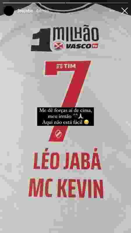 Léo Jabá vai homenagear MC Kevin em final da Taça Rio - Reprodução/Instagram - Reprodução/Instagram