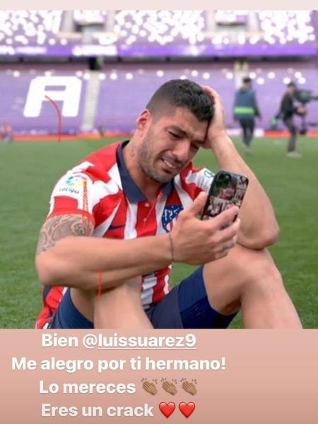 Neymar parabeniza Suárez por conquista do Campeonato Espanhol - Reprodução/Instagram