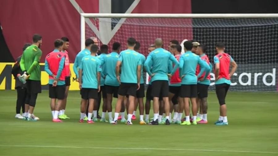 Treino da seleção brasileira no CT da Barra Funda, do São Paulo, teve novidades hoje (11) - Reprodução/CBF TV