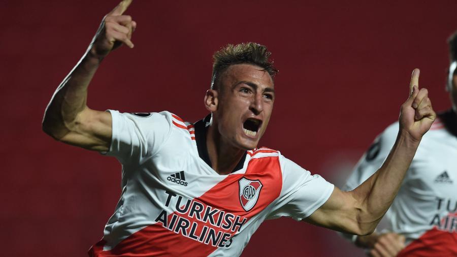 Braian Romero comemora gol pelo River Plate na Libertadores - Divulgação CARP