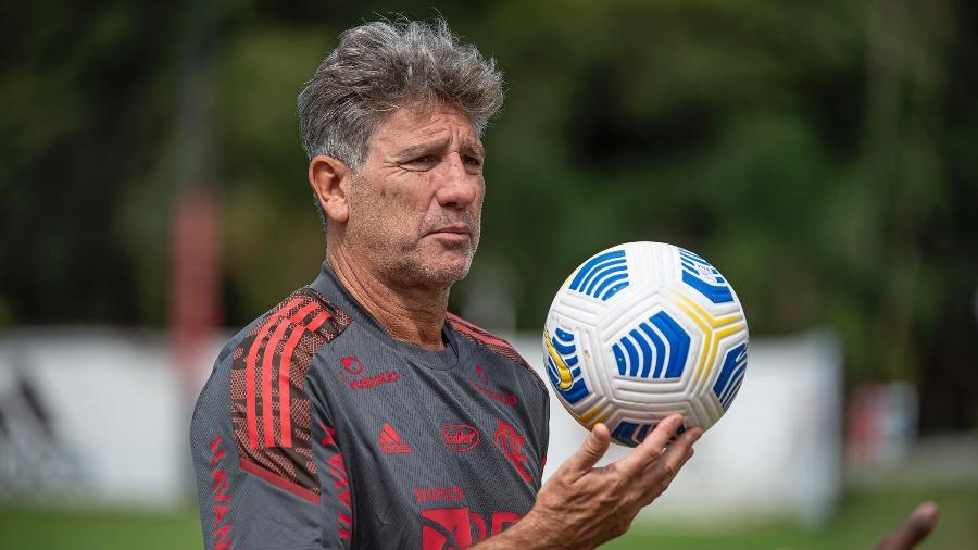 Renato Gaúcho acompanha treino do Flamengo no Ninho do Urubu - Alexandre Vidal / Flamengo