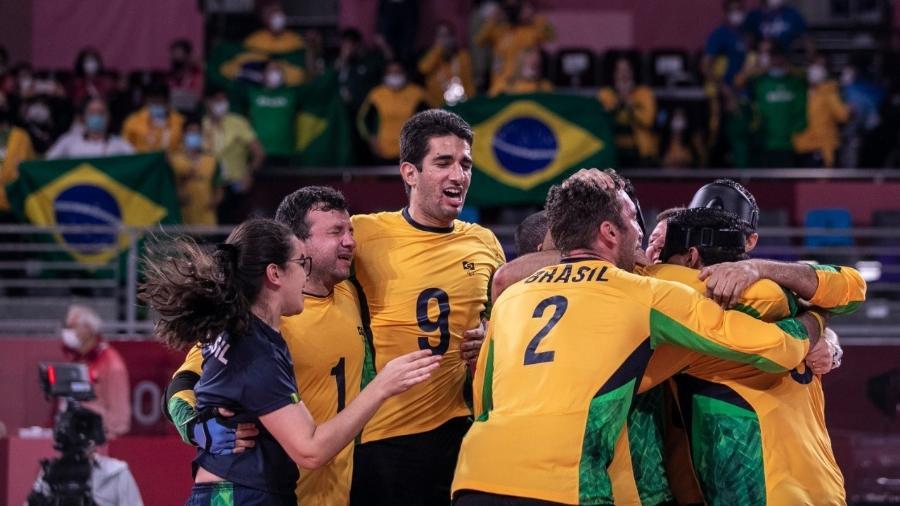 Ouro no goalball da seleção brasileira - Ale Cabral/CPB