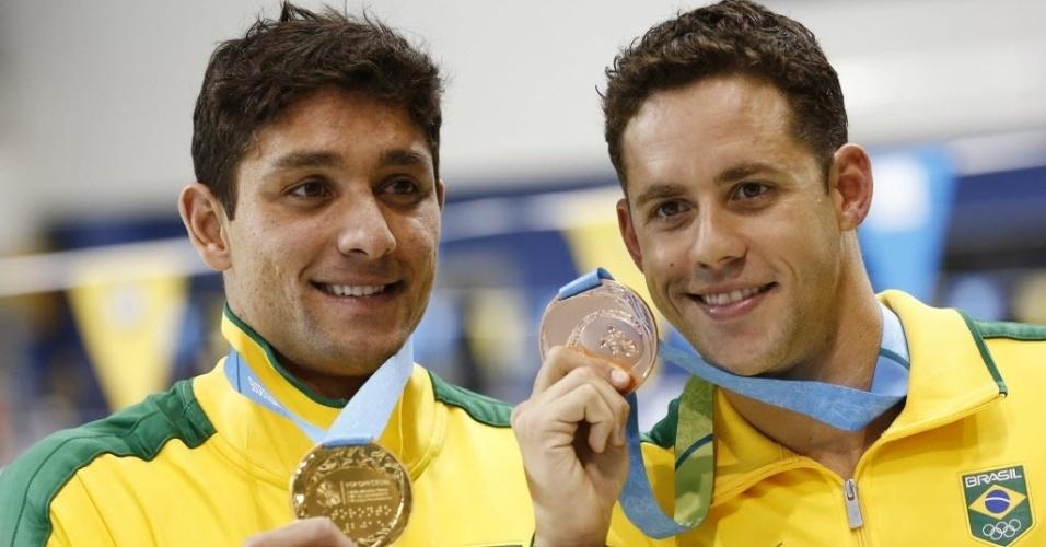 Os Thiagos: Simon, com ouro, e Pereira, maior medalhista da história do Brasil nos Jogos Pan-Americanos