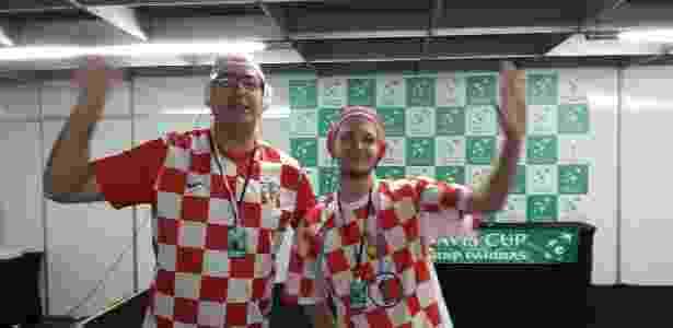 Jornalista e torcedor. Croata veste a camisa para ver a Davis com o ... 93c534881ecc8