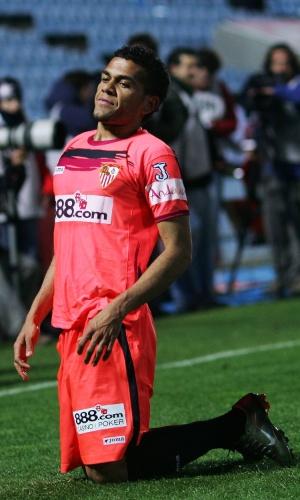 Daniel Alves disputou 246 jogos pelo Sevilla, em cinco temporadas, com 16 gols marcados e cinco títulos conquistados