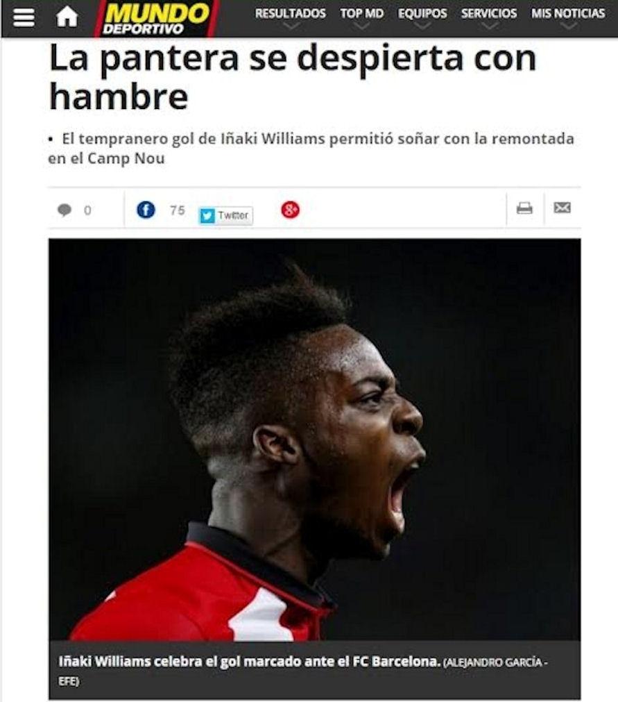"""Iñaki Williams ganhou o apelido de """"Pantera"""" da imprensa espanhola por conta da velocidade"""