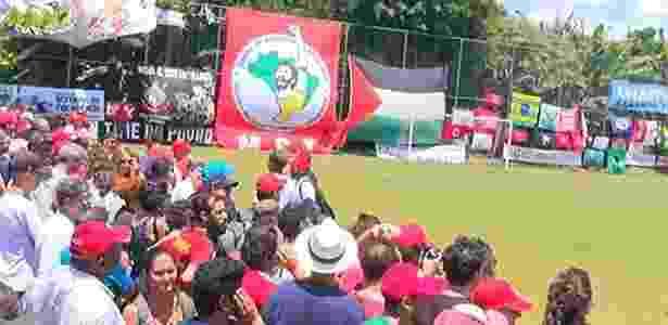 Inauguração de campo em homenagem a Sócrates, em Guararema (SP) - Reprodução/YouTube/MST