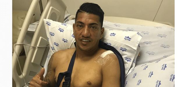 O corintiano Ralf após cirurgia no ombro - Reprodução/Instagram