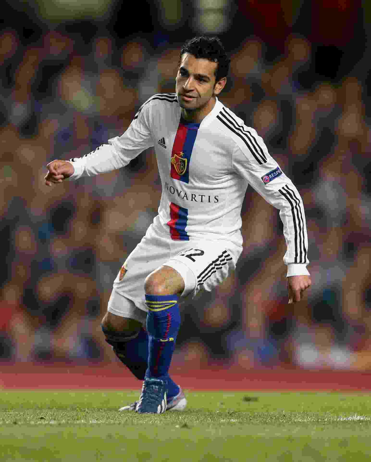 O Basel, da Suíça, foi o primeiro time de Mohamed Salah na Europa. O atacante chegou ao clube em 2012 - Getty Images