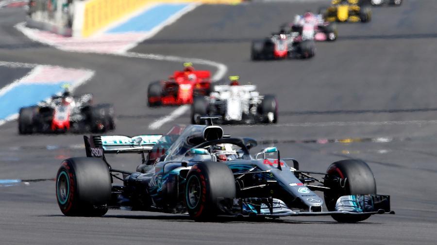 Lewis Hamilton venceu o GP da França e assumiu a liderança - Jean-Paul Pelissier/Reuters