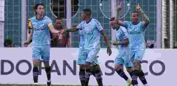 Pedro Geromel comemora gol do Grêmio contra o Atlético-MG - Pedro Vale/AGIF - Pedro Vale/AGIF
