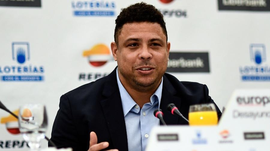 Ronaldo dá entrevista em Valladolid - Oscar del Pozo/AFP
