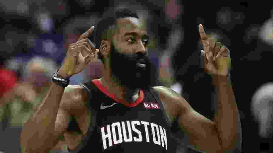 James Harden comemora vitória do Houston Rockets - Streeter Lecka/Getty Images/AFP