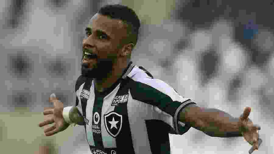 Alex Santana comemora gol contra o Atlético-MG no Nilton Santos - VITOR SILVA/BOTAFOGO