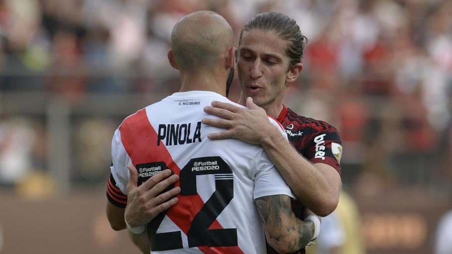 River perdeu o título da Libertadores para o Flamengo de virada por 2 a 1, graças a dois gols no fim do jogo - Ernesto Benavides / AFP