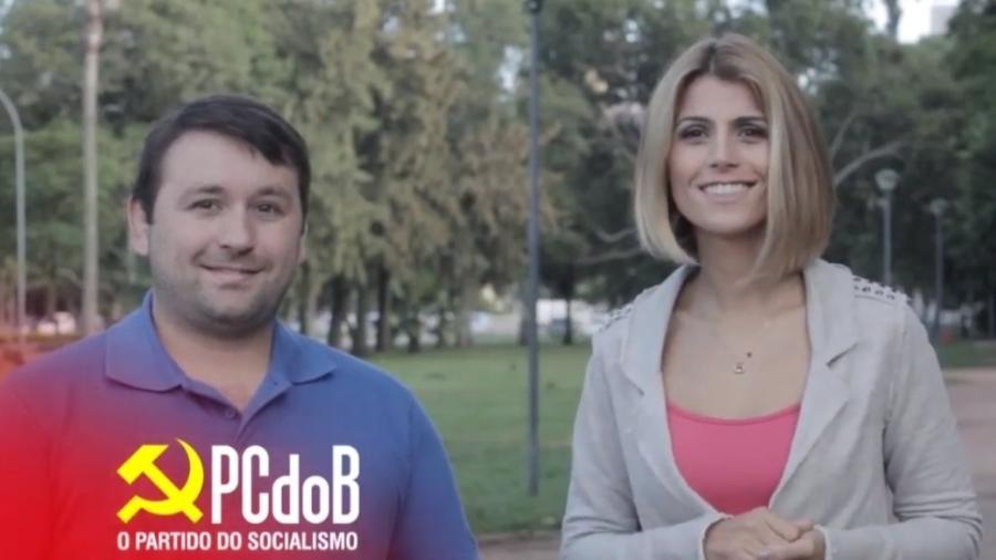 """João Derly e Manuela D""""Avila - Reprodução/Twitter"""