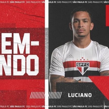 Luciano, atacante do São Paulo - Divulgação/Twitter oficial do São Paulo