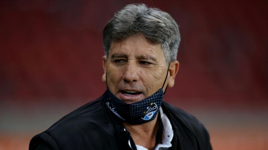 Renato Gaúcho antes de partida do Grêmio pela Copa Libertadores 2020 - Alexandre Schneider/Getty Images