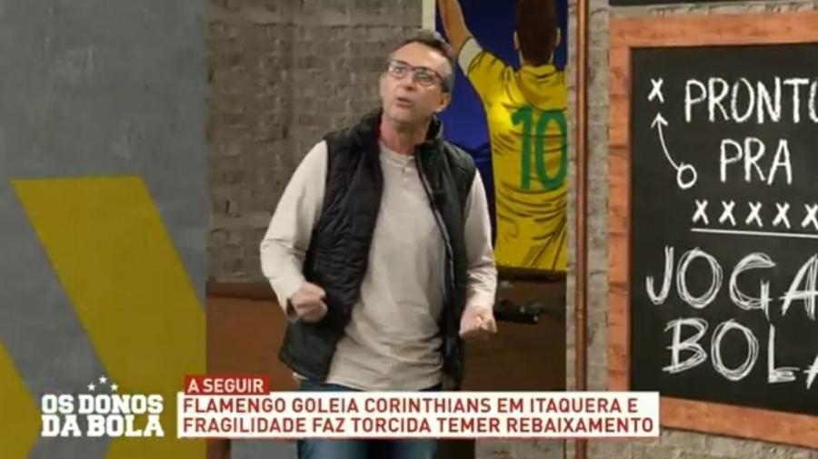 Neto detona Corinthians após derrota para o Flamengo - Reprodução/Band