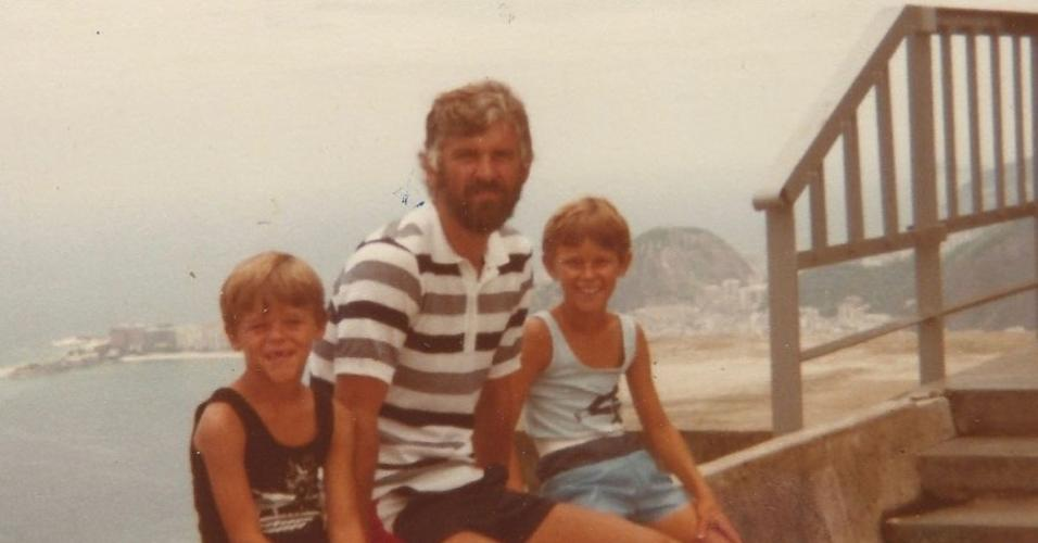 Guga Kuerten, pai, Aldo e irmão, Rafa
