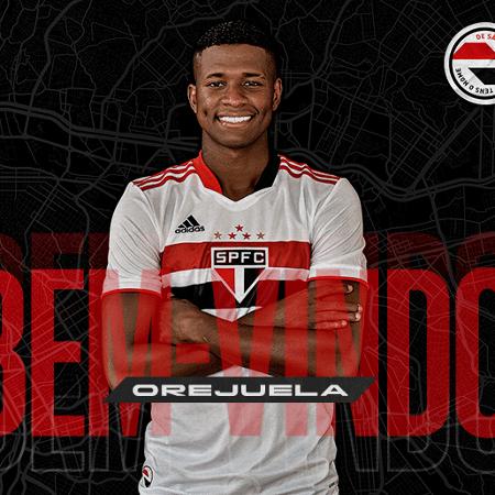 Luis Orejuela é anunciado como novo lateral direito do São Paulo - Divulgação/São Paulo