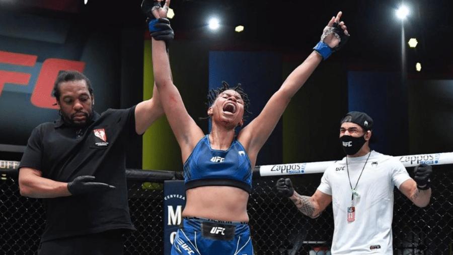 Luana Dread venceu Poliana Botelho no UFC Vegas 25 - Reprodução/Instagram