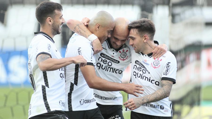 Fábio Santos marcou para o Corinthians contra o Novorizontino - Ag. Corinthians