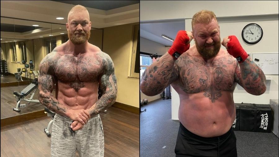 Hafthor Bjornsson perdeu mais de 50 kg e confirmou luta de boxe - Reprodução/Instagram