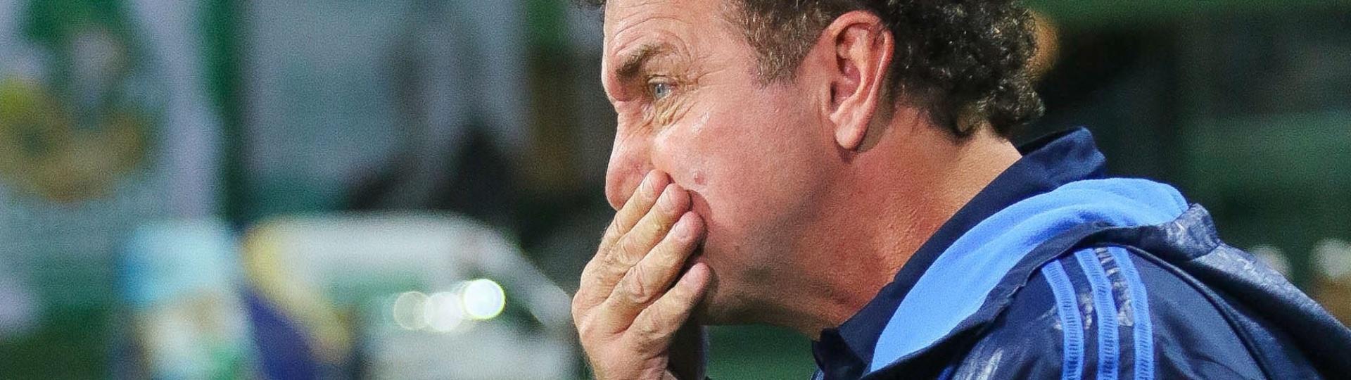 Cuca acompanha o duelo do Palmeiras contra o Coritba no Couto Pereira