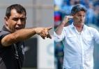 Corinthians balançou, mas não despencou. Culpa também é do Grêmio de Renato - Rodrigo Gazzanel/Corinthians e Lucas Uebel/Grêmio