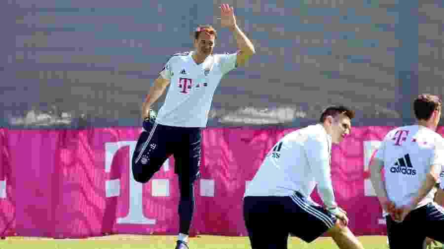 O goleiro alemão Manuel Neuer durante treino do Bayern de Munique - Site oficial do Bayern
