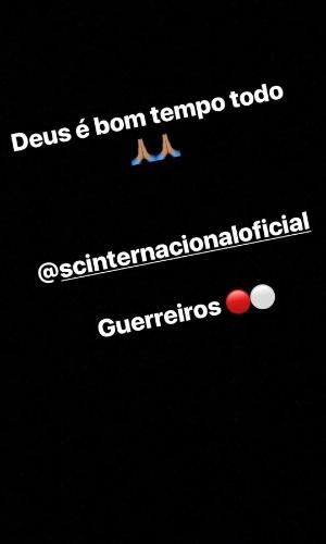 Zeca provoca Santos pelas redes sociais após vitória do Internacional