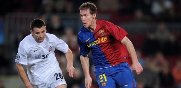 Hleb atuou pelo Barcelona de 2008 a 2012 e participou de apenas 19 partidas  - Jasper Juinen/Getty Images