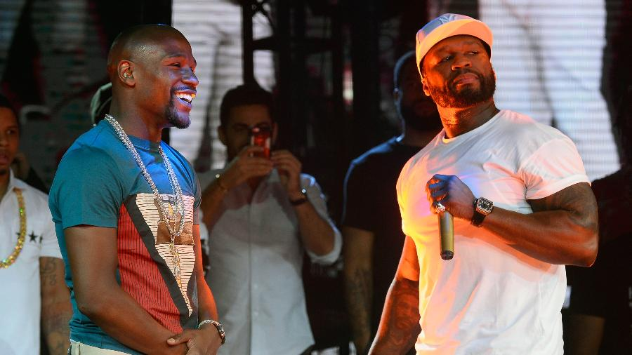 Floyd Mayweather e o rapper 50 Cent - Bryan Steffy/BBMA2016/Getty Images