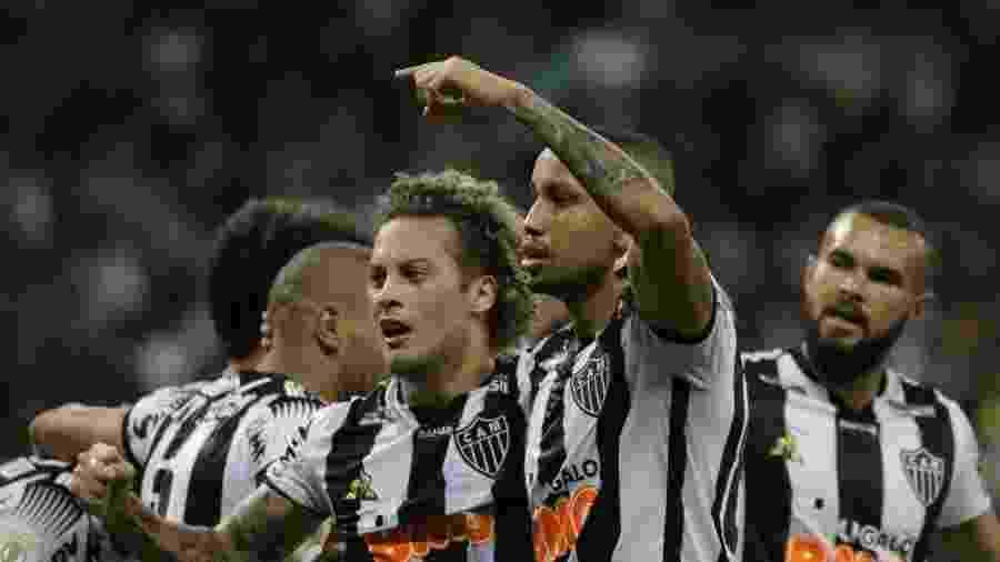 Jair comemora gol do Atlético-MG contra o Botafogo - Fernando Moreno/AGIF