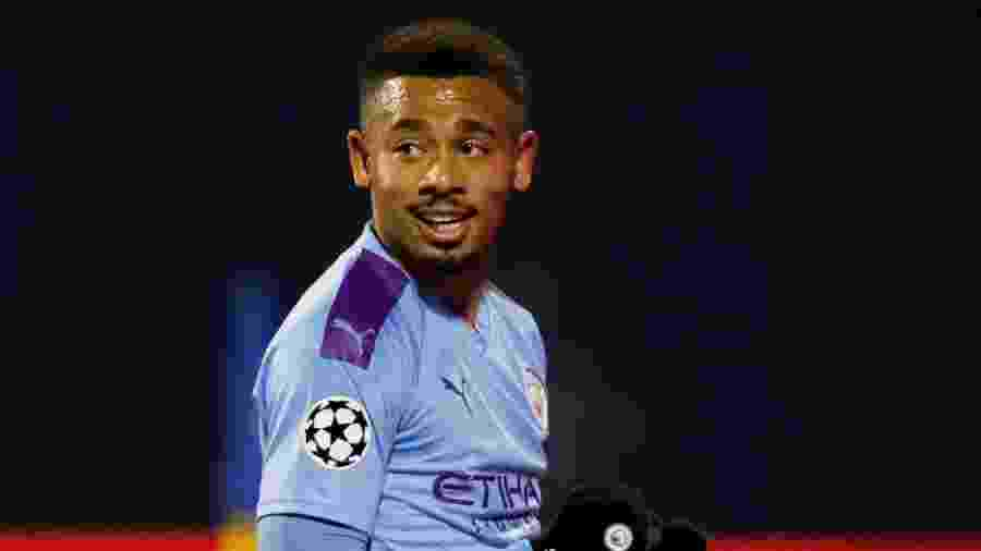 Gabriel Jesus durante goleada do Manchester City sobre o Dinamo Zagreb - Matthew Childs/Reuters