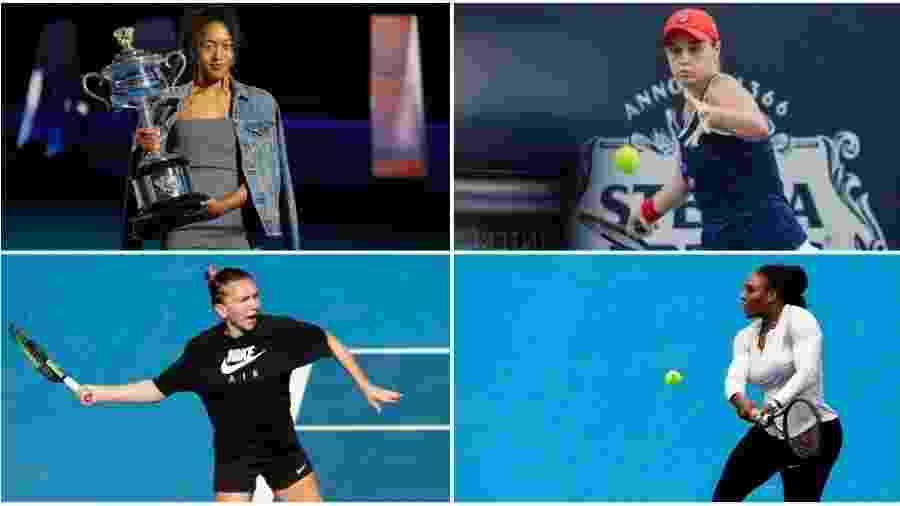 Montagem com fotos de Divulgação/Adelaide International e Divulgação/Tennis Australia