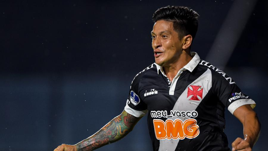 Cano comemora gol marcado pelo Vasco contra o Oriente Petrolero, pela Copa Sul-Americana - Thiago Ribeiro/AGIF
